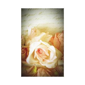 Vintage rose canvas