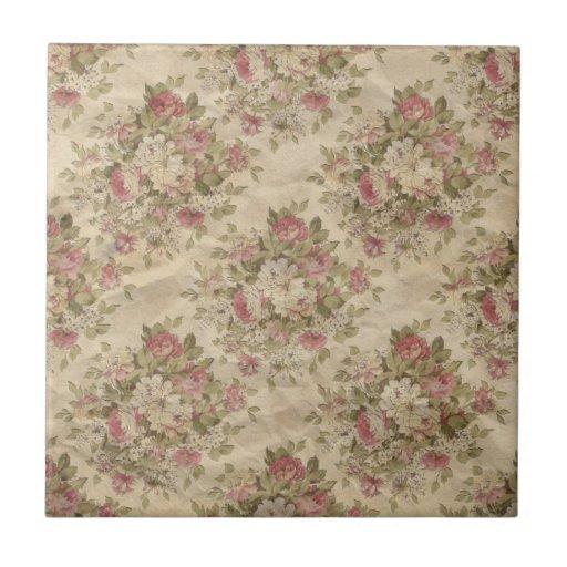 Vintage Rose Ceramic Tiles