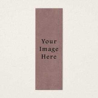 Vintage Rose Dusty Pink Mauve Old Parchment Paper Mini Business Card