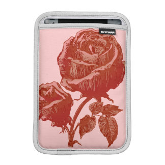Vintage Rose Flower in Pinks and Reds Sleeve For iPad Mini