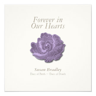 Vintage Rose Forever in Our Hearts Funeral Invite