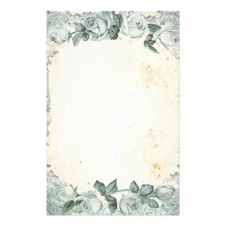 Vintage Rose Frame Stationery Paper