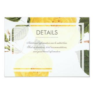 Vintage Rose Garden Detail Card - white 9 Cm X 13 Cm Invitation Card