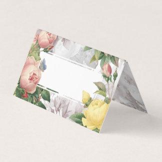 Vintage Rose Garden Elegant Wedding Table Place Card