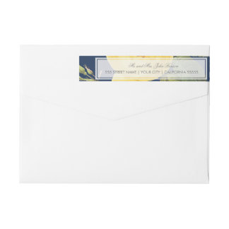 Vintage Rose Garden Return Address Label Wraparound Return Address Label