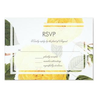 Vintage Rose Garden Rsvp Card -white 9 Cm X 13 Cm Invitation Card