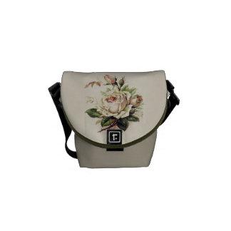 Vintage Rose Graphic Courier Bag