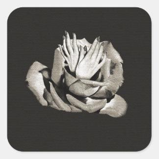 Vintage Rose Hands Nails Grunge Square Sticker