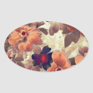 Vintage Rose Hips Oval Sticker