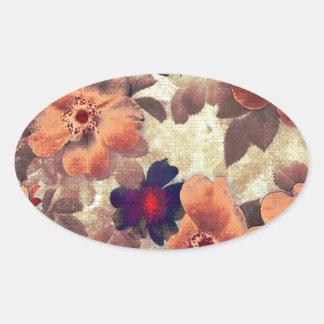 Vintage Rose Hips Oval Sticker