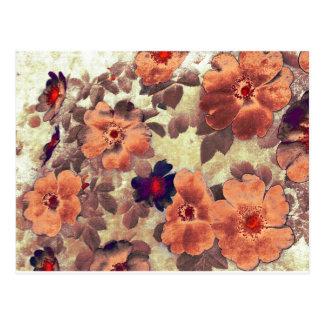 Vintage Rose Hips Post Card
