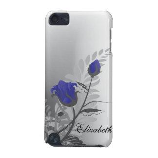 Vintage Rose IPod Touch Case Blue