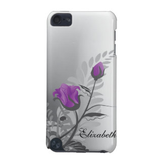 Vintage Rose IPod Touch Case Purple