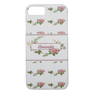 Vintage Rose Label Customizable iPhone 7 Case