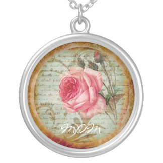 Vintage Rose 'Mom' Necklace