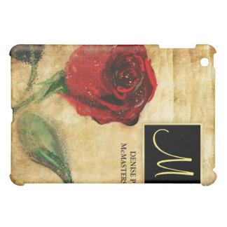 Vintage Rose Monogram Ladies Executive iPad Case