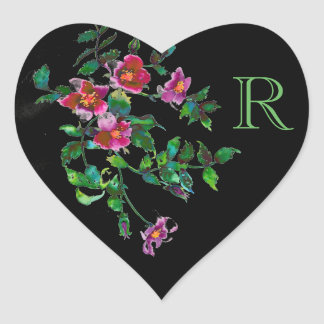 Vintage Rose monogrammed sticker