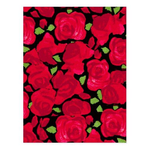 Vintage rose novel TIC Postcards