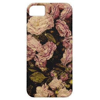 vintage rose on aged paper -i-phone case