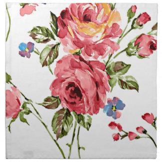 Vintage Rose Paper Napkin