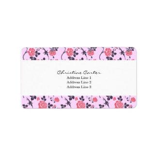 Vintage Rose Pattern Address Label