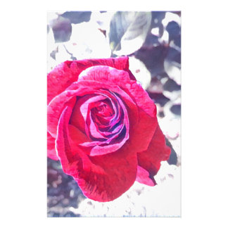 Vintage Rose Personalized Stationery
