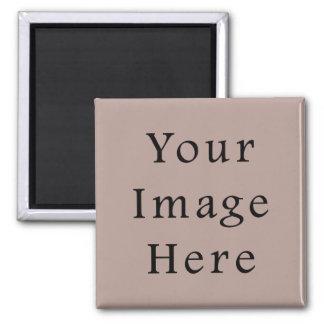 Vintage Rose Pink Color Trend Blank Template Square Magnet