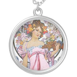 Vintage Rose Pink Goddess Necklaces