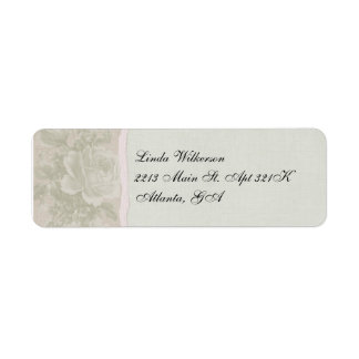 Vintage Rose Return Address Return Address Label