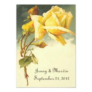 Vintage Rose Save the Date 13 Cm X 18 Cm Invitation Card