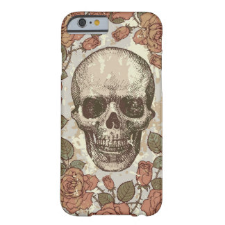 Vintage Rose Skull in Neutral Color Palette. Barely There iPhone 6 Case