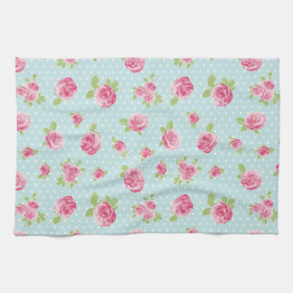 Vintage Rose Tea Towel Floral Shabby Chic