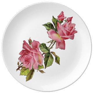 """Vintage """"Rose Vine"""" Plate"""