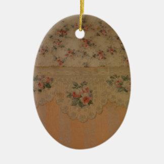 Vintage Rose Wallpaper Ornament
