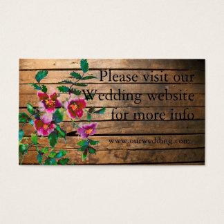 Vintage rose wedding card