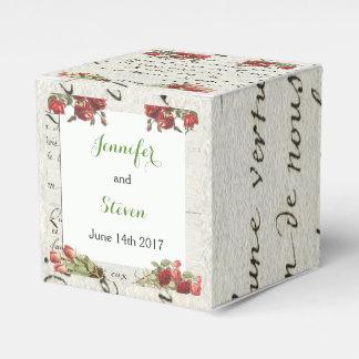 Vintage Rose Wedding Favor Box