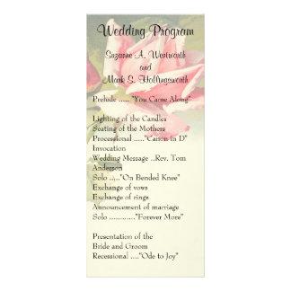 Vintage Rose Wedding Programs Rack Card