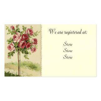 Vintage Rose Wedding Registery Cards Business Card Templates