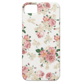 Vintage Rose with White Background iPhone 5 Cases