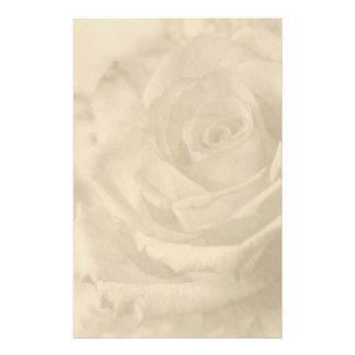 """Vintage Rose"" Writing Paper Custom Stationery"