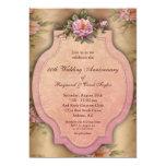 "Vintage Roses 50th Anniversary Party Invitations 5"" X 7"" Invitation Card"