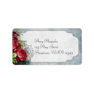 Vintage Roses and Damask Address Label