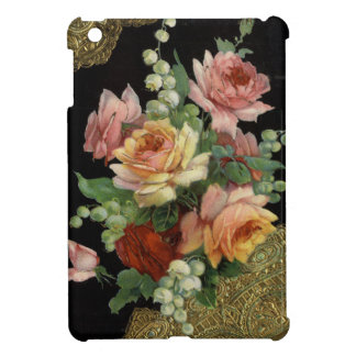 Vintage Roses and Gold Lace iPad Mini Cover