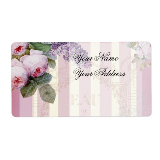 Vintage Roses and Lilac Shipping Label