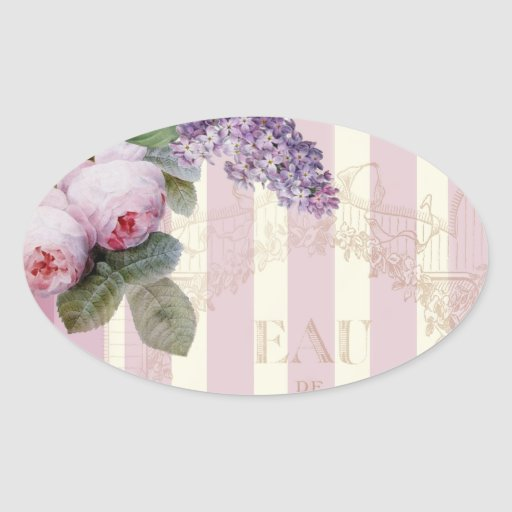 Vintage Roses and Lilac Stickers