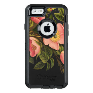 Vintage Roses Antique Drawing Art Phone OtterBox Defender iPhone Case