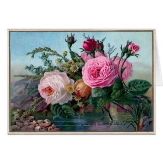 Vintage Roses. Card