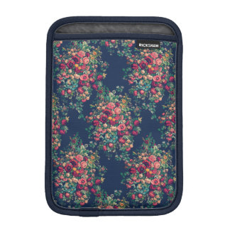 Vintage Roses Classic Blue Color Rich Damask iPad Mini Sleeve