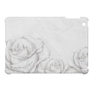 Vintage Roses Floral Grey Decorative iPad Mini Case