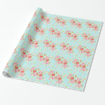 Vintage roses floral shabby wedding wrappingpaper gift wrapping paper